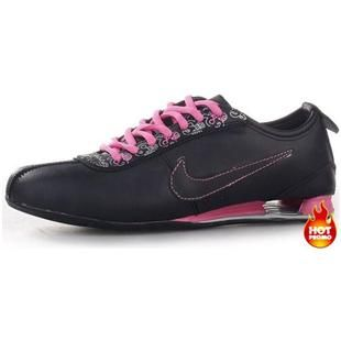 www.asneakers4u.com Womens Nike Shox R3 Black Pink Grey Pattern