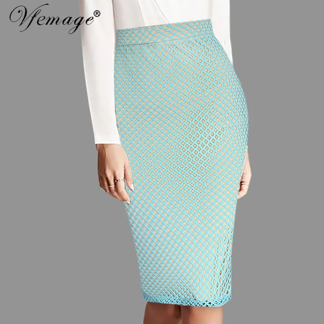 0e5469b9a9a Check lastest price Vfemage Womens Elegant Fishnet Mesh High Waist Ladies  Fashion Casual Wear to Work Party Slim Stretch Bodcycon Pencil Skirt 6652  just ...