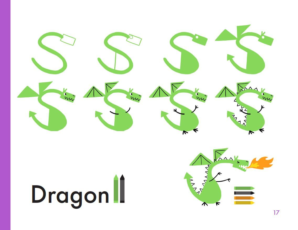 How To Draw A Dragon Get More Animal Drawing Steps At Kibooco Com