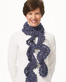 Free Pattern For Crochet Ruffle Scarf Twirl Scarf Free Crochet
