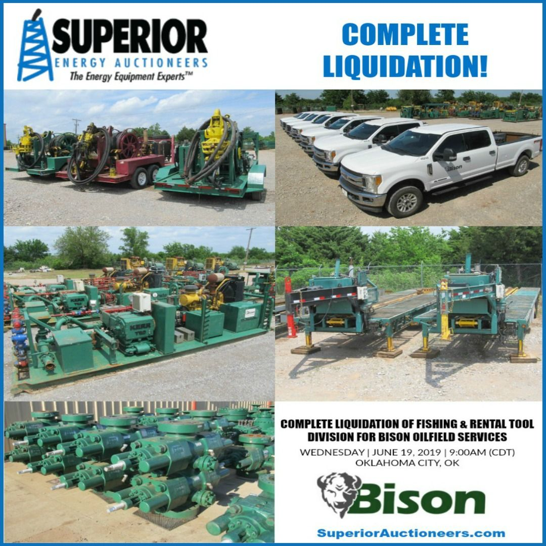 Complete Liquidation Of Fishing Rental Tool Division For Bison Oilfield Services Brought To You By Superior Energy Auctionee Oilfield Auction Monster Trucks