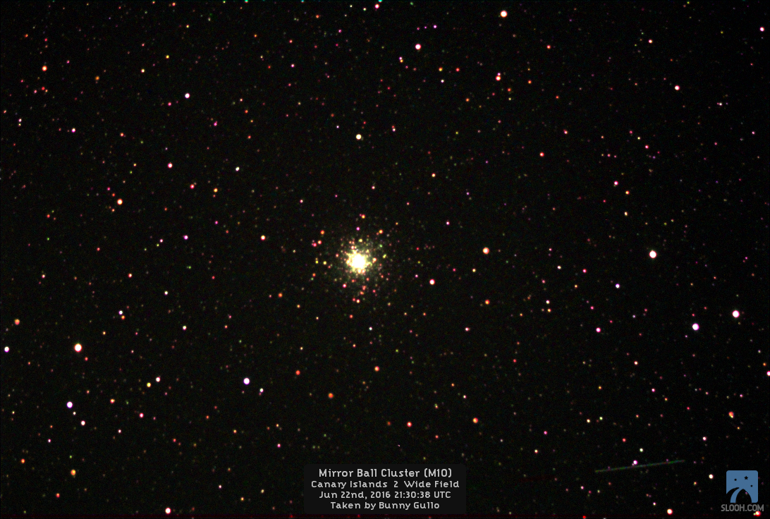Mirror Ball Cluster (M10) imaged using SLOOH's Canary Islands 2 Wide Field on…