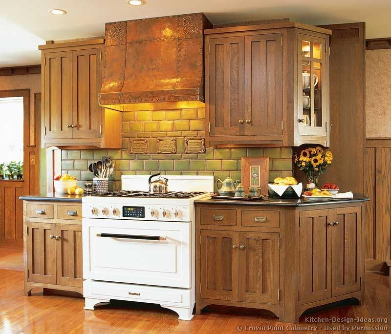 Craftsman kitchen crown point cabinetry for White mission style kitchen cabinets