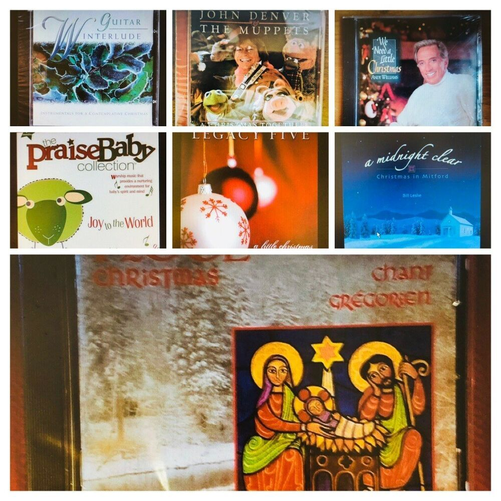 Christmas cds lot of 7 new andy williams john denver