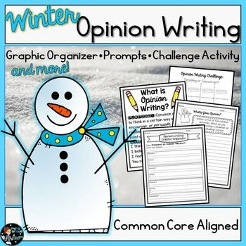 Opinion Writing Prompts Winter With Digital Opinion Writing Winter Writing Opinion Writing Graphic Organizer