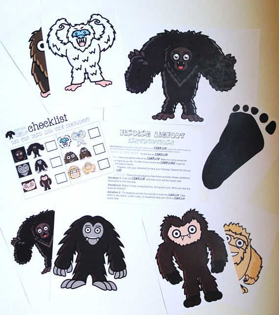 Finding Bigfoot Game BIGFOOT Sasquatch Kids game party | Kid