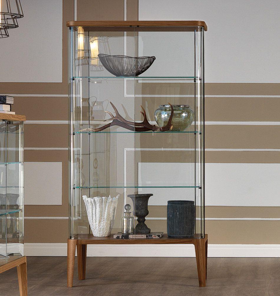 Cattelan Italia Glasvitrine Chantal Nuss Glasvitrine Glasschrankturen Vitrine