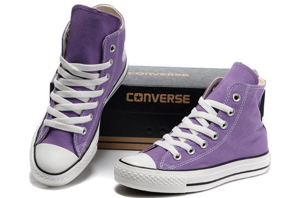 purple converse all star high tops