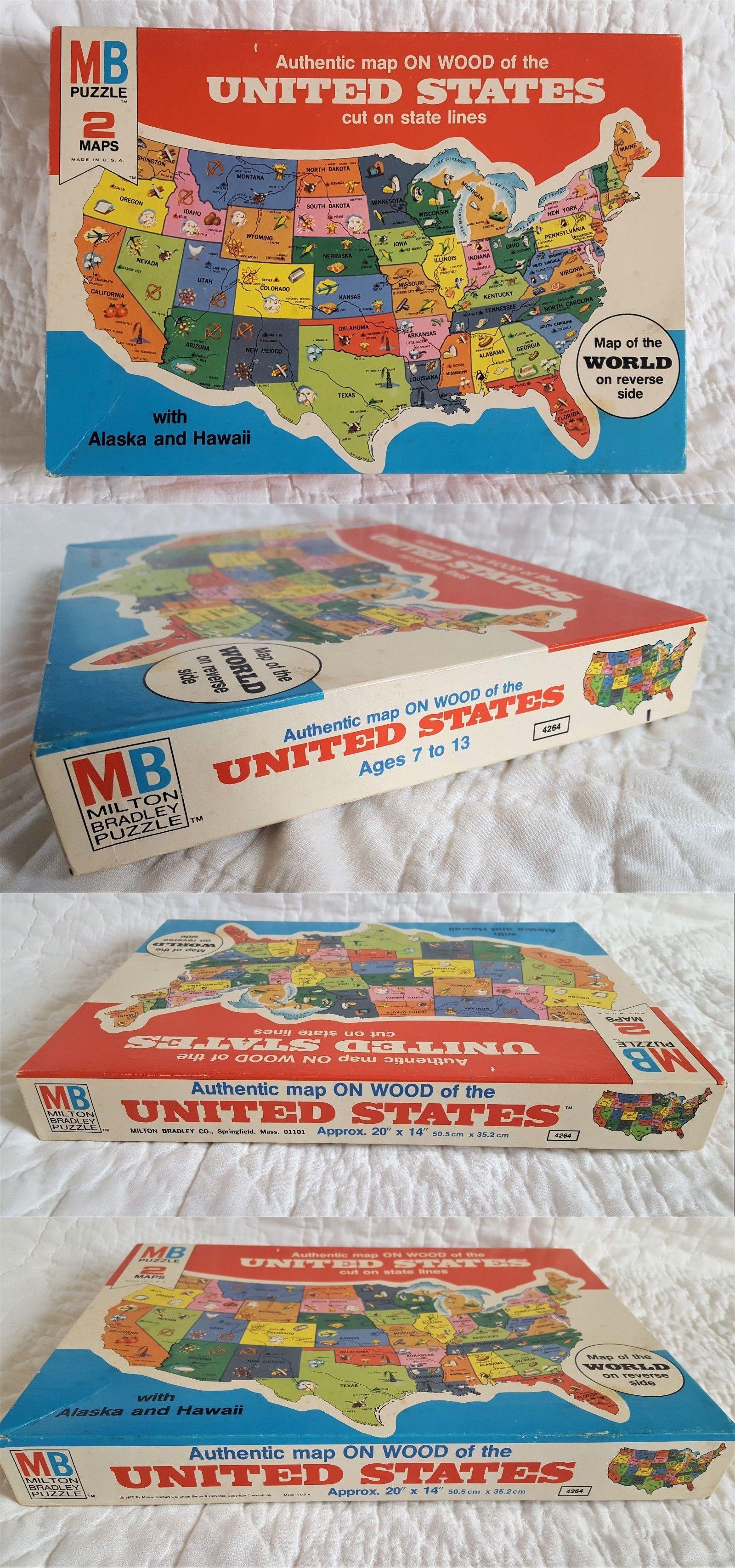 Wooden 158752: Sealed 1975 Vintage Milton Bradley United States Wood ...