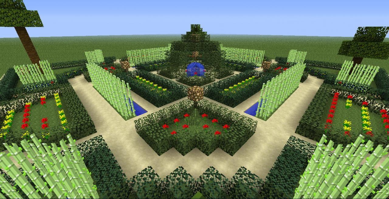 jardin minecraft Jardins à la française