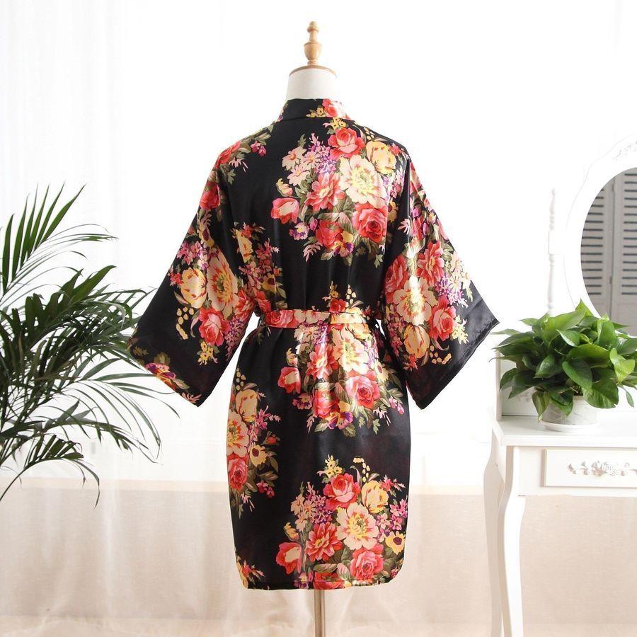 560f7cbd10 Silk Satin Floral bridesmaid robes gowns bride bath robe wedding kimono  robes   bridesmaid robes Floral