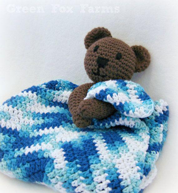 CUSTOM Crochet Baby Bear Blanket Lovey Infant Blanket Bear Crochet ...