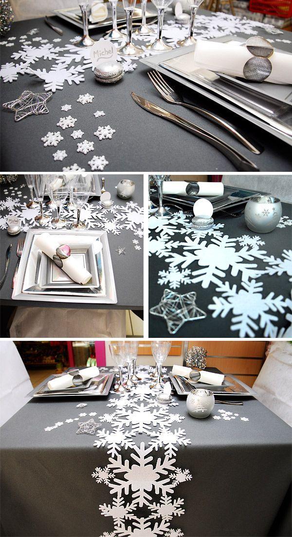 Toutes ces belles tables proviennent du blog blog arts for Decoration porte pere noel