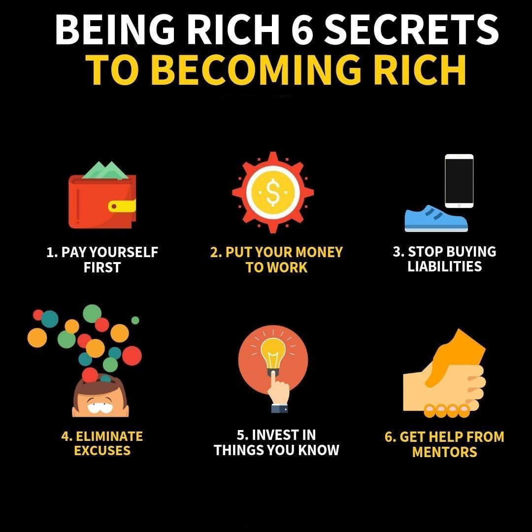 6 Secrets To Becoming Rich Follow Me On Instagram