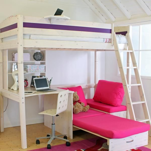 This Thuka Trendy High Sleeper Bed In Whitewash Pine Offers Your Ever Growing Small Person So Many Cool Features
