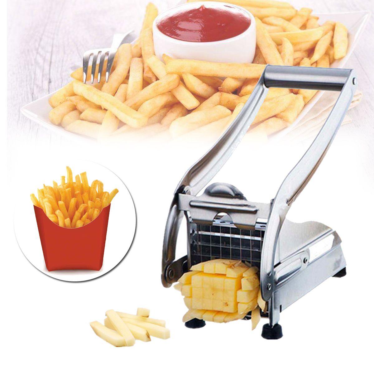 Potato Chipper Cutter Slicer French Fries Chip Vegetables Fruit Kitchen Tool UK