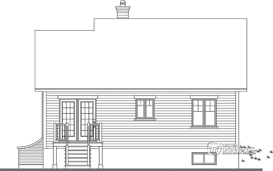 Détail du plan de Maison unifamiliale W2157