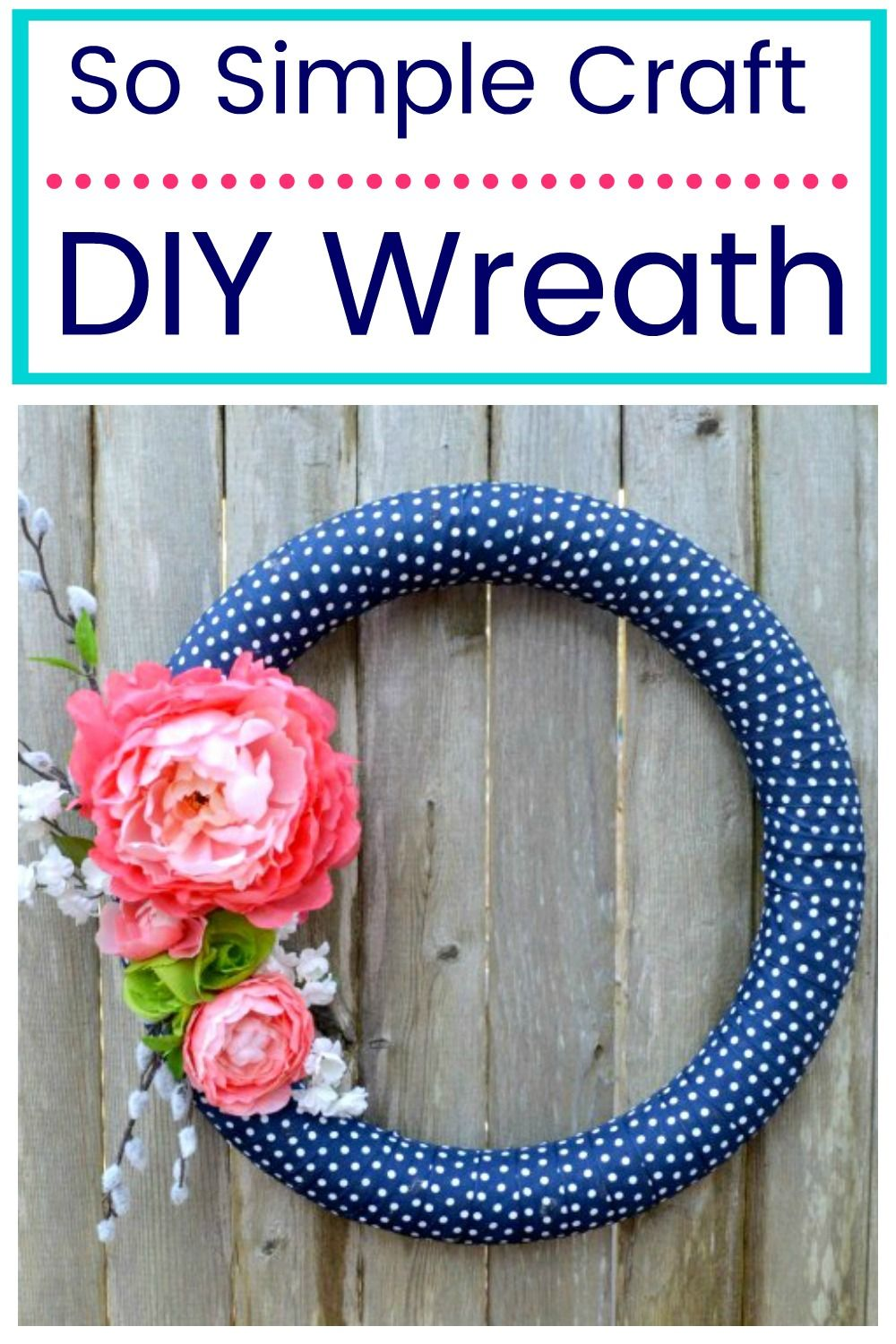 DIY Simple Spring Wreath - Diy wreath, Diy spring wreath, Easy crafts, Wreaths, Easy diy crafts, Diy crafts - Try this simple DIY for a Beautiful Spring Wreath  DIY Simple Spring Wreath