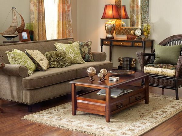 28 Green And Brown Decoration Ideas Brown Living Room Decor Brown Furniture Living Room Brown Living Room