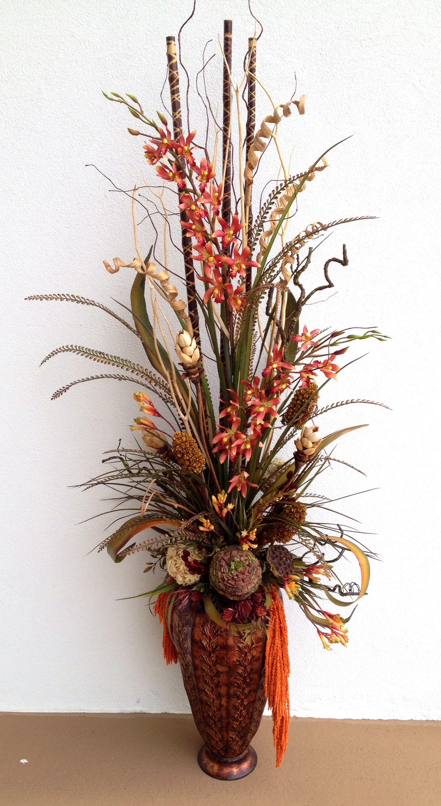 Dried arrangement designed by arcadia floral home - Arreglos florales artificiales para casa ...