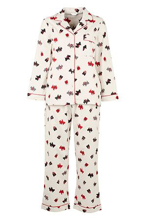 Scotty Dog Print Flannel Pyjama  1766d2507
