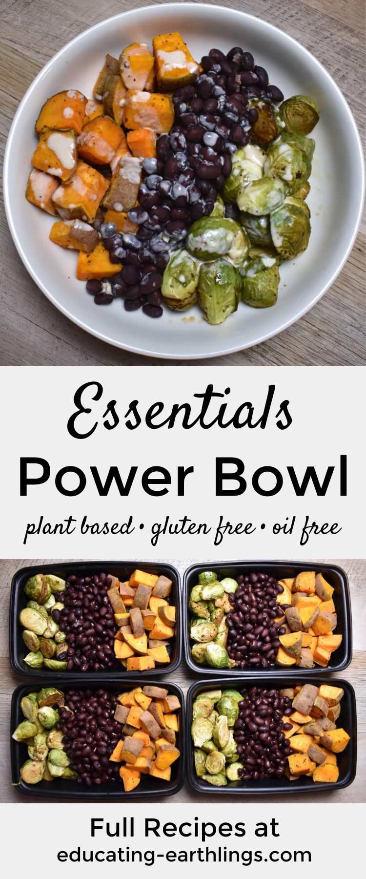 Essentials Power Bowl W Tahini Lime Drizzle