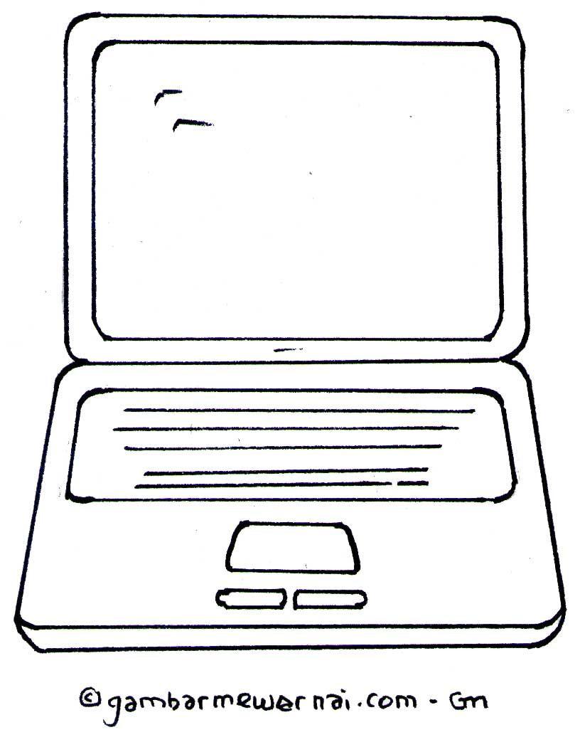 Gambar Mewarnai Laptop Warna Gambar Laptop