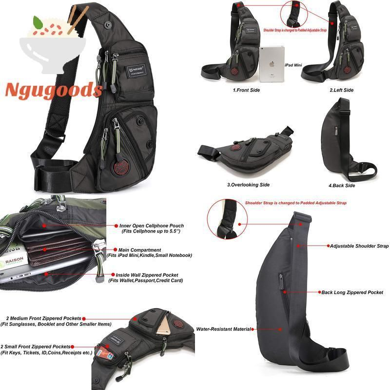 New Nicgid Sling Bag Chest Shoulder Backpack Fanny Pack Crossbody Bags for Me..