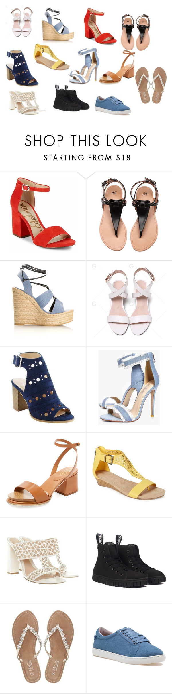 """""""Horace Somnusson (shoes)"""" by elenahimekirari ❤ liked on Polyvore featuring Sam Edelman, Yves Saint Laurent, Boohoo, Tod's, Kenneth Cole Reaction, Alexander McQueen, M&Co and J/Slides"""