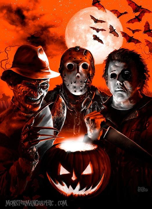 Freddy Krueger Jason Voorhees And Michael Myers Art