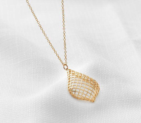 9720b584100 Gold Drop Necklace, Big Pendant Necklace, Long Necklace Gold ...