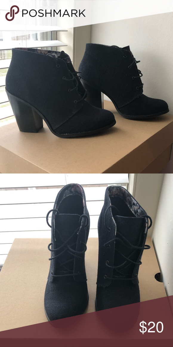 56229acc7df3 Black Booties Cute black booties worn once! jcpenney Shoes Ankle Boots    Booties