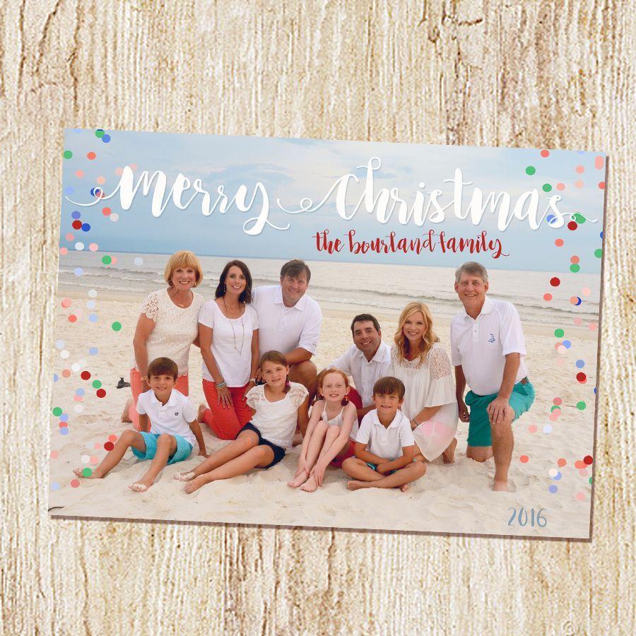 Beach Christmas Card | Photo Christmas Card | Warm Wishes | Family ...