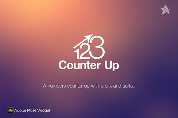 Counter Up Adobe Muse Widget Muse widgets, Adobe muse