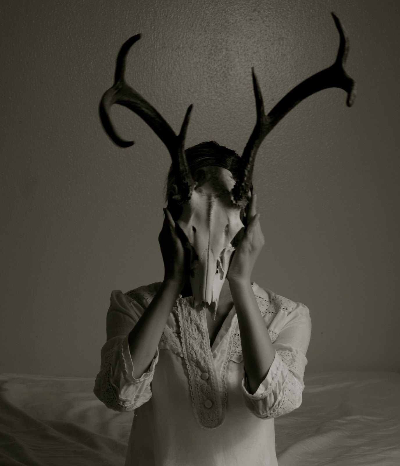 Deer skull | Self portrait experiments | Pinterest | Deer skulls