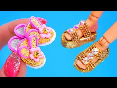 a9bb410b8946 6 diy barbie shoes and sandals youtube – Artofit