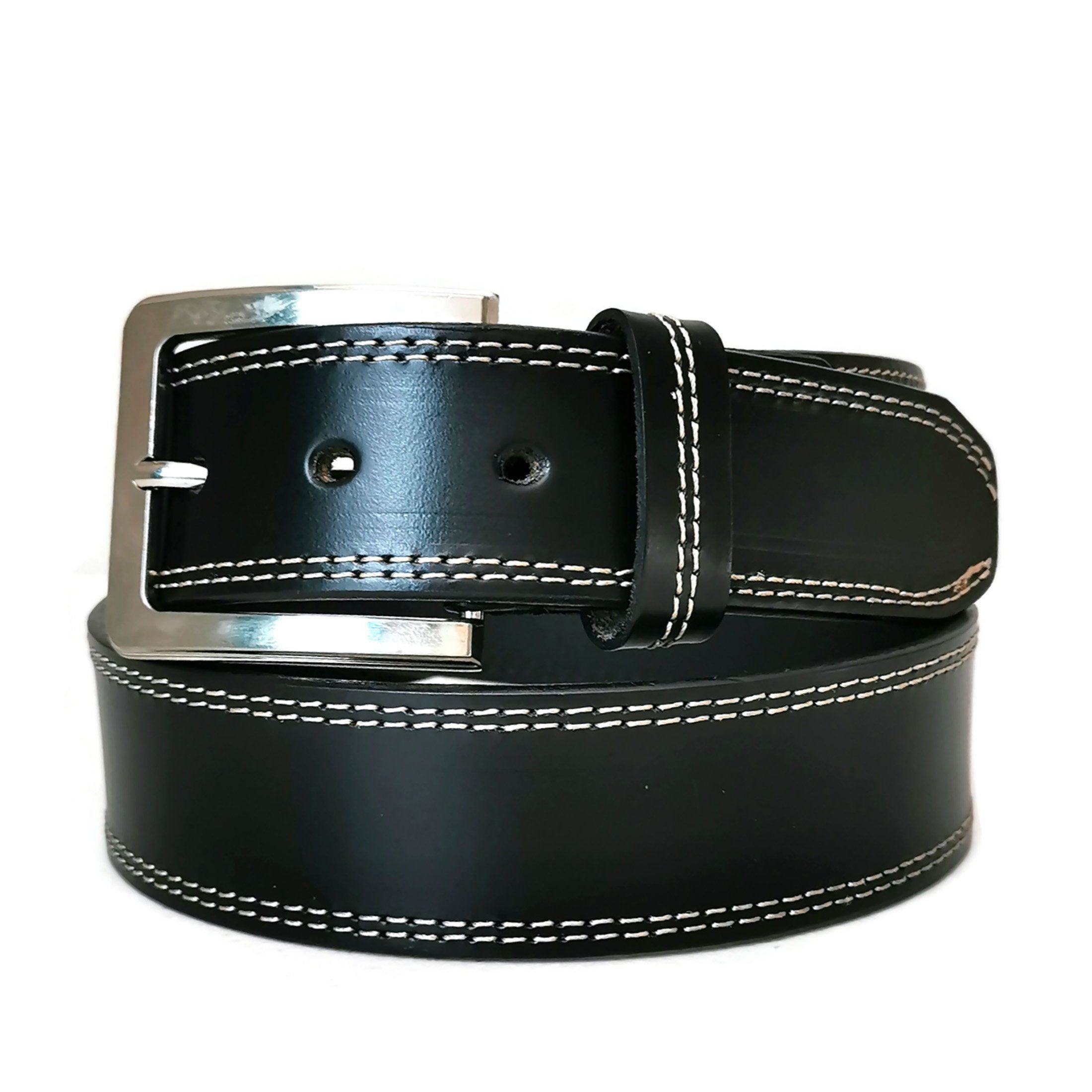 With Removable Buckle for Jeans Black Handmade MEN/'S BELT Casual Minimalist LEATHER Belt