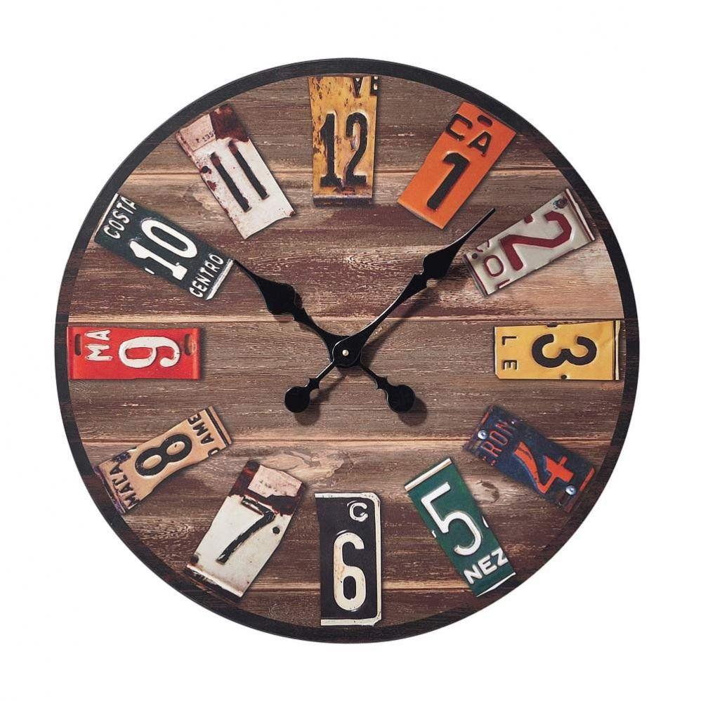 Recicla matr culas de los carros para crear un maravilloso reloj new decoraci n pinterest - Relojes de decoracion ...