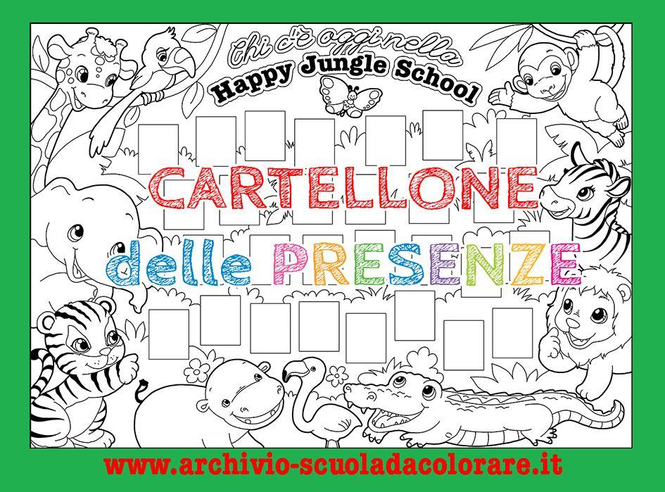 Cartellone Delle Presenze Scuola Dinfanzia La Happy Jungle School