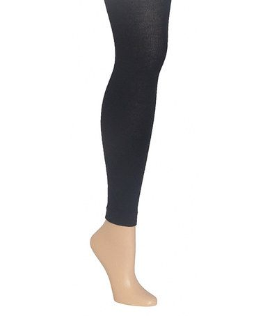 Take a look at this Black Footless Tights by MeMoi on #zulily today!