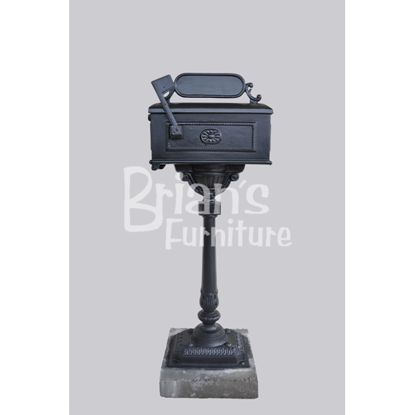 Louisiana Cast Aluminum Mailbox On Center Post | Brianu0027s Furniture