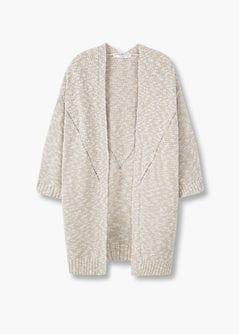 bastante agradable 0ea87 326d7 Cárdigan jaspeado algodón - Mujer | Moda | Manga, Ribetes y ...