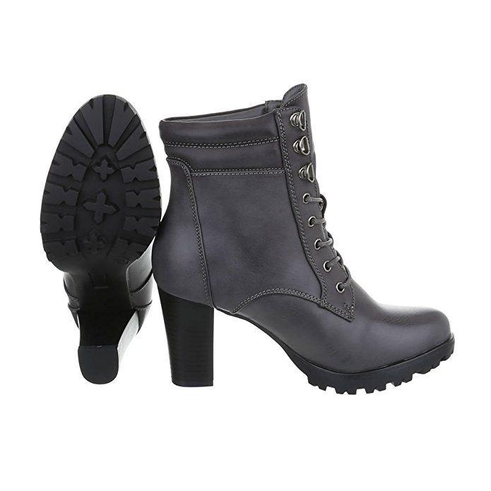 Schnürstiefeletten Damenschuhe Combat Boots Pump Schnürer
