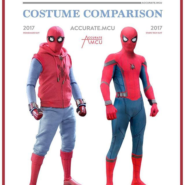 SPIDER-MAN - COSTUME COMPARISON u2022 I am so happy about how good both of the costumes look. Homecoming will easily be the best Spidey movie ever.  sc 1 st  Pinterest & SPIDER-MAN - COSTUME COMPARISON u2022 I am so happy about how good both ...
