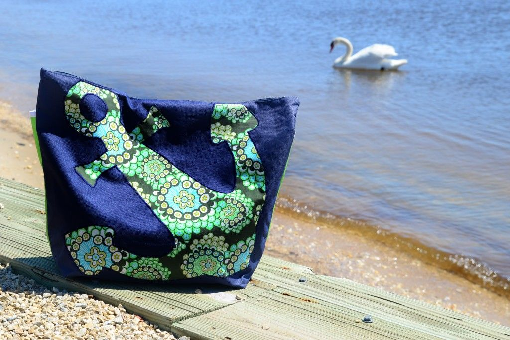 045ba7e2af Knock-Off Vera Bradley Anchor Beach Bag  DIY Tutorial  - Handmade Is Better