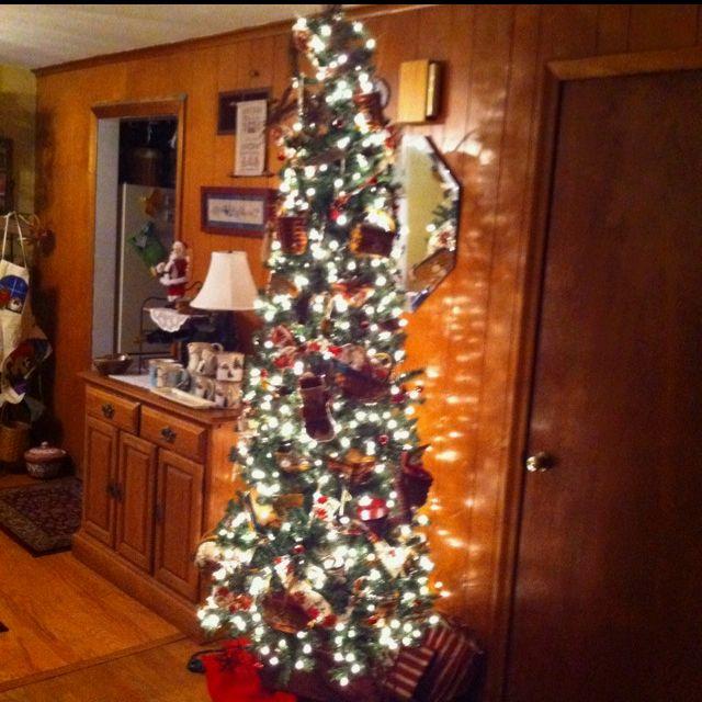 Basket Christmas Tree holidays Pinterest
