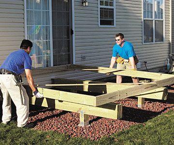 Building Beams Headers And Outside Joists Building A Deck