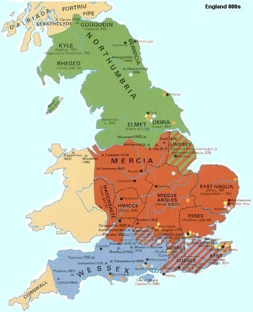 Image result for england 800 ad map | ~History Nerd~ | Pinterest