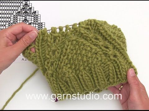 DROPS Knitting Tutorial: How to work chart A.1B and A.2 for the hat ...