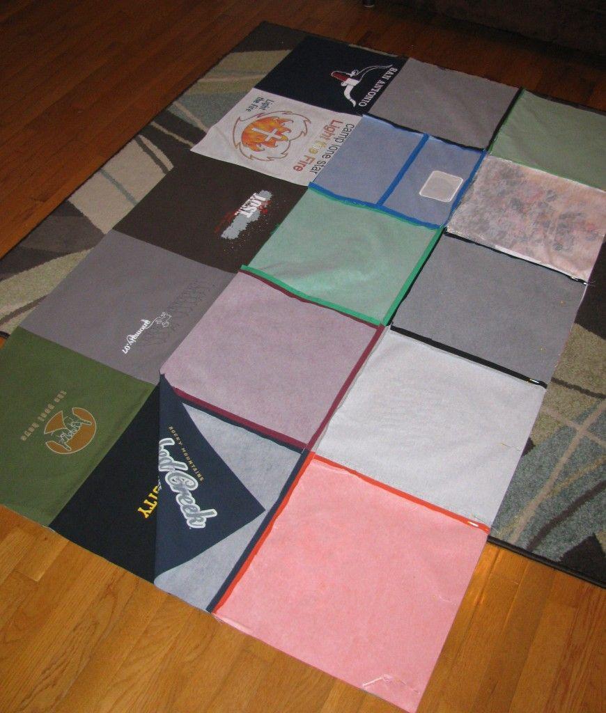 Diy basic tshirt quilt tutorial part 1 baby lock